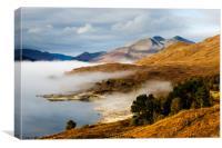Loch Cluanie, Canvas Print