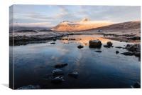 Blackmount Sunrise, Canvas Print