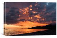 Loch Broom Sunset, Canvas Print