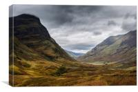 One Sister of Glencoe, Canvas Print