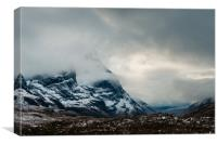 The Mists of Glen Coe, Canvas Print