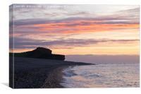 Otterton Ledge Sunrise, Canvas Print
