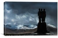 Army Commando Memorial, Canvas Print