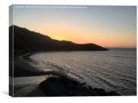 Spring Sunset, Gower, Canvas Print