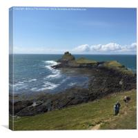 Worms Head, Gower , Canvas Print