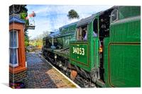 Sir Keith Park - Locomotive 34053, Canvas Print