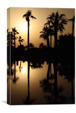 Sunset Palm Trees, Canvas Print
