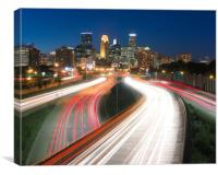 Minneapolis traffic flow, Canvas Print