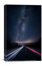 E12 Highway, Canvas Print