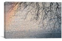 Winter glitter, Canvas Print