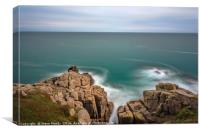 All Calm at the Minack, Canvas Print