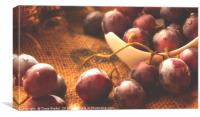 Grapes on Jute , Canvas Print