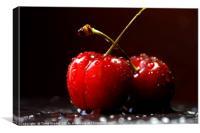 Cherries Love, Canvas Print