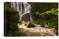 Rushing waterfall , Canvas Print