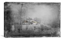 Villa on a Winterberg , Canvas Print