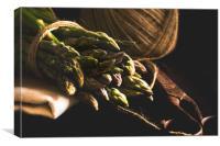 Asparagus nostalgia, Canvas Print