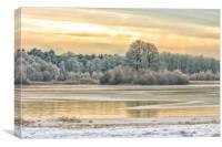 Winter landscape nostalgia, Canvas Print