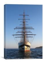Tall Ship Anchored off Penzance, Canvas Print