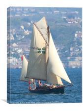 Moosk sailing past Torquay, Canvas Print
