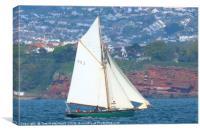 Pegasus sailing in Torbay, Canvas Print