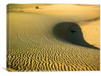 Deserted Arabian desert, Canvas Print