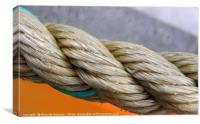 Colourful nautical rope, Canvas Print