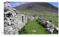 Abandoned High Street, Hirta,  St Kilda, Canvas Print
