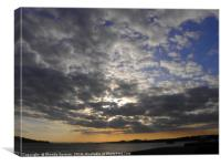 Sky at Broughty Ferry, Canvas Print