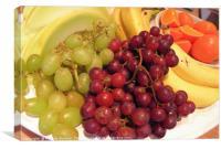Fresh fruit platter, Canvas Print