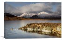 Winter at Lochan Nah Aclaise, Canvas Print
