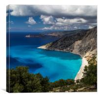 Myrtos Beach, Canvas Print