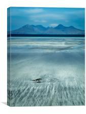Eigg shoreline, Canvas Print