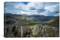 Ullswater from Angletarn Pikes, Canvas Print