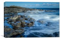 Dunstanburgh Castle coastline, Canvas Print