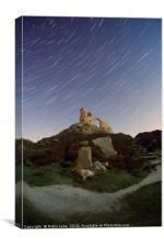 Mow Cop Hill star Trails, Canvas Print