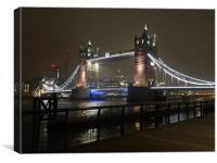 Tower Bridge at Night                            , Canvas Print