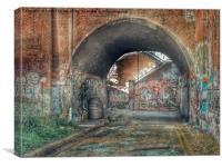Urban Graffiti Arch, Canvas Print
