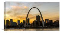 The Gateway Arch and downtown of St. Louis, Missur, Canvas Print