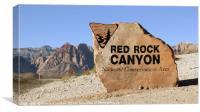 Red rock canyon near Las-Vegas, Nevada, Canvas Print