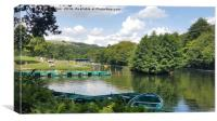 shibden boating lake, Canvas Print