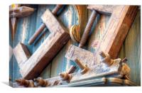 historic woodworking tools, Canvas Print