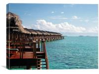 Over the water bungalow, Canvas Print