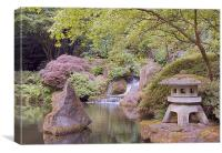 japanese zen garden in portland, Canvas Print