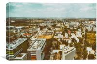 Aerial View Of Bucharest City Skyline, Canvas Print
