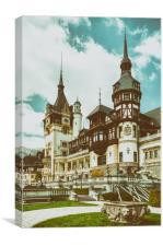 Peles Castle In Sinaia, Romania, Canvas Print