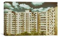 Communist Building Apartments, Canvas Print