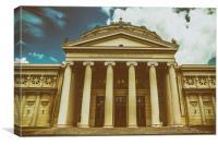 The Romanian Athenaeum George Enescu, Canvas Print