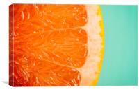 Blood Orange Slice Macro Details, Canvas Print
