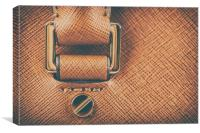 Brown Leather Woman Bag Closeup, Canvas Print