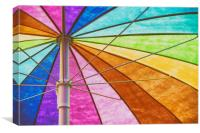 Rainbow Colored Umbrella Abstract Background, Canvas Print